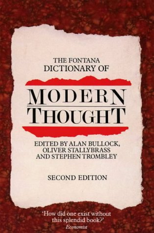 9780006861294: The Fontana Dictionary of Modern Thought