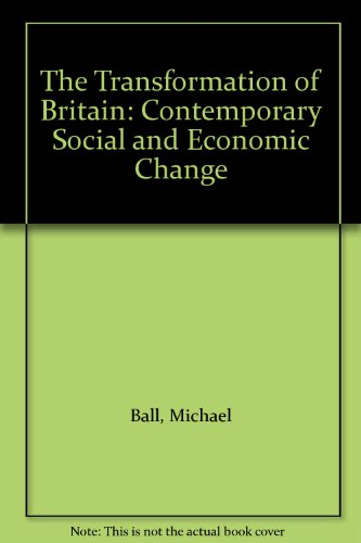 9780006861379: The Transformation of Britain: Contemporary Social and Economic Change