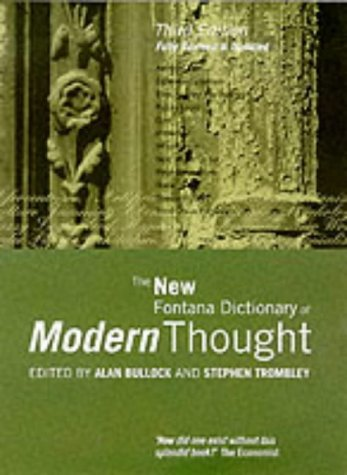 9780006863830: The New Fontana Dictionary of Modern Thought