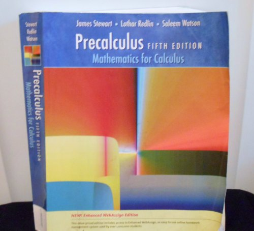 Precalculus: Mathematics for Calculus- Text Only (9780006943549) by James Stewart; Lothar Redlin; Saleem Watson