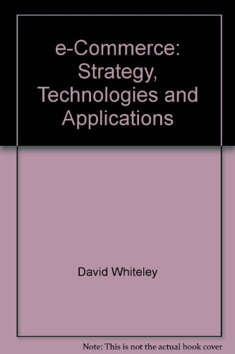 9780007097661: e-Commerce: Strategy, Technologies and Applications