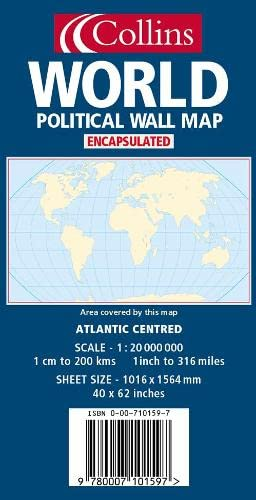9780007101597: World Wall Map: Atlantic Centred: Political