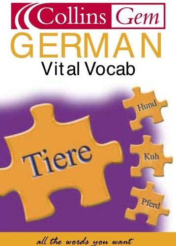 9780007102037: Collins Gem - German Vital Vocab