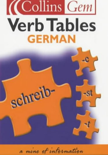 9780007102044: Collins Gem - German Verb Tables
