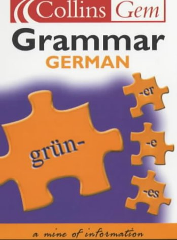 9780007102051: Collins Gem - German Grammar