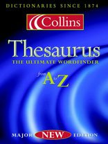 9780007107308: Collins Thesaurus A-Z: Complete and Unabridged