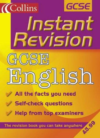 9780007109715: GCSE English (Instant Revision)