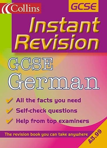 9780007109753: GCSE German (Instant Revision)