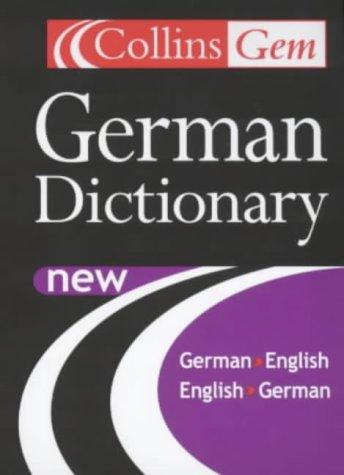 9780007110049: German Dictionary (Collins Gem)