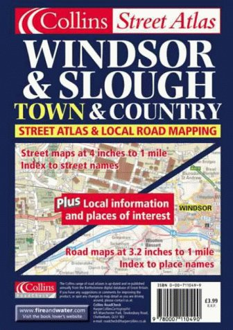 9780007110490: Windsor and Slough (Town & Country Street Atlas)