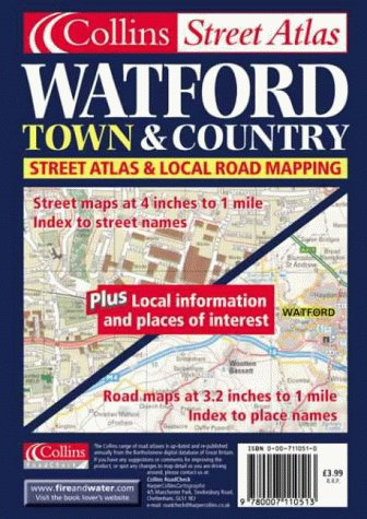9780007110513: Watford (Town & Country Street Atlas)