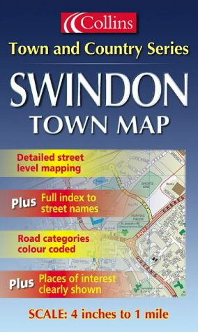 9780007112364: Town and Country Map - Swindon (Town & Country Street Atlas)