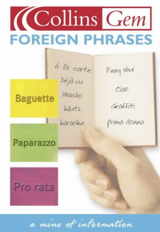 9780007121878: Foreign Phrases (Collins GEM)
