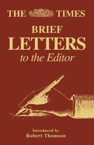 9780007121946: The Times Brief Letters to the Editor (Bk. 1)