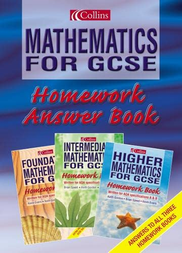 9780007123698: Homework Book Answers: Answers (Mathematics for GCSE)