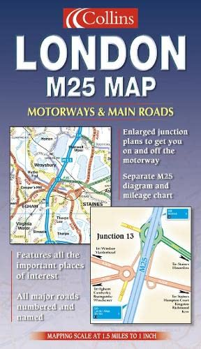 9780007128600: London M25 Map (Road Map)