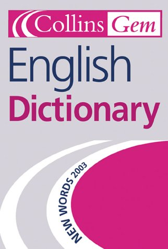 9780007135806: English Dictionary (Collins GEM)