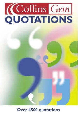 9780007144372: Quotations (Collins Gem)