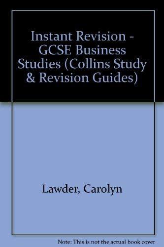 9780007159147: Instant Revision - GCSE Business Studies (Collins Study & Revision Guides)