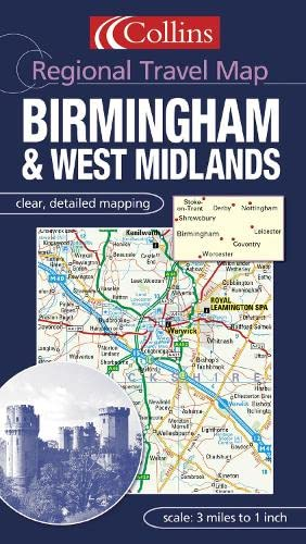 9780007160860: Birmingham and the West Midlands (Regional Travel Map)