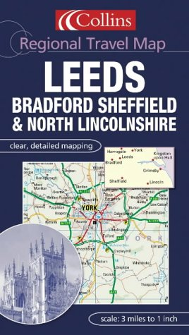 9780007160907: Regional Travel Map - Leeds, Bradford and East Yorkshire
