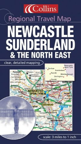 9780007160945: Regional Travel Map - Newcastle, Sunderland and the North East