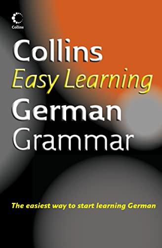 9780007163274: Collins Easy Learning German Grammar