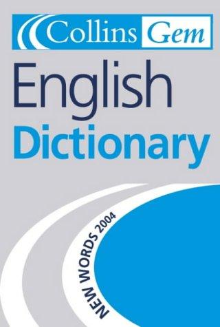 9780007164844: English Dictionary (Collins GEM)