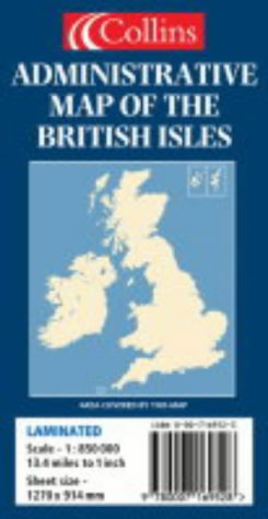 9780007169528: Administrative Map of the British Isles