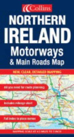 9780007170081: Motorways and Main Roads Map Northern Ireland (Motorways & Main Roads Map)