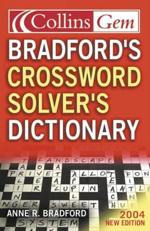 9780007177806: Bradford's Crossword Solver's Dictionary (Collins GEM)