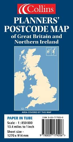 9780007179206: Planners' Postcode Area Map of Great Britain and Northern Ireland