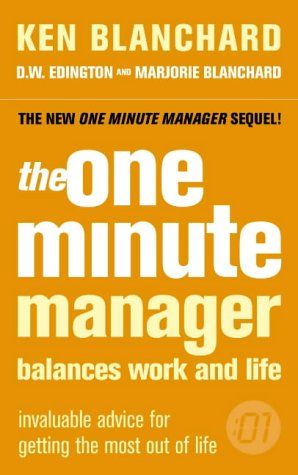 9780007182107: The One Minute Manager Balances Work and Life