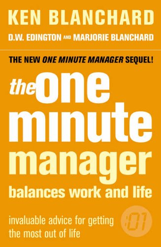 9780007182114: The One Minute Manager Balances Work and Life