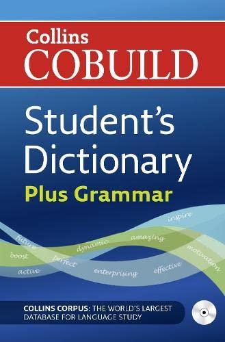 9780007183869: Collins Cobuild Students Dictionary plus Grammar (Book & CD)