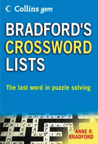 9780007191574: Collins Gem Bradford's Crossword Lists