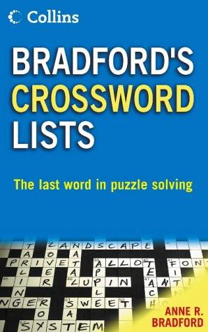9780007191581: Collins Bradford's Crossword Lists