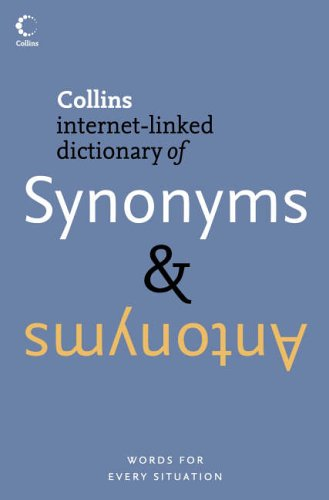9780007194667: Collins Dictionary of Synonyms & Antonyms