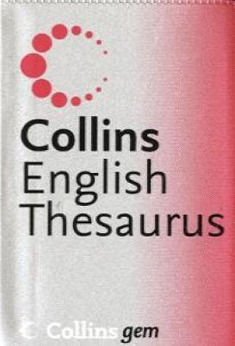 9780007196241: Collins Gem – Thesaurus A–Z