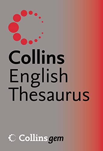 9780007196241: Collins Gem ? Thesaurus A?Z