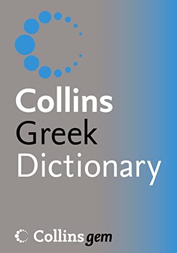 9780007196265: Greek Dictionary (Collins Gem)