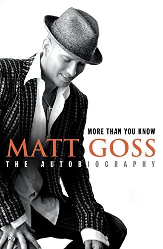 9780007201457: Matt Goss: More Than You Know