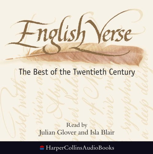 9780007202126: English Verse: The Best of the Twentieth Century