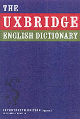 9780007203406: Uxbridge English Dictionary