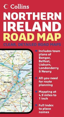 9780007204243: Northern Ireland Road Map