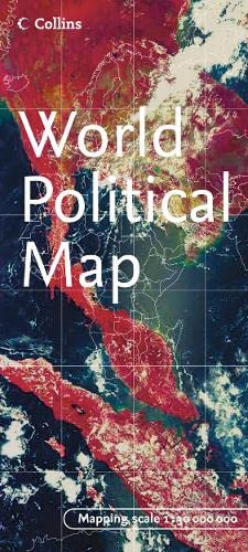 9780007207176: World Political Map (English, Spanish, French and Japanese Edition)
