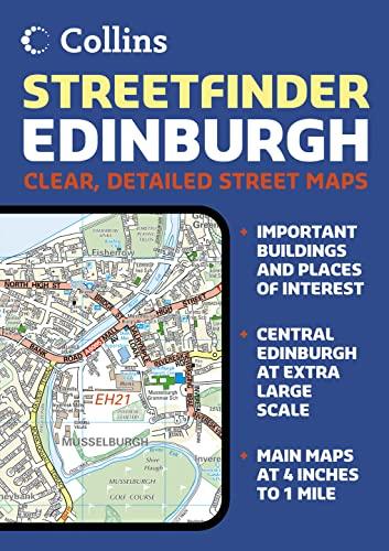 9780007208227: Edinburgh Streetfinder Colour Atlas (Collins Travel Guides)