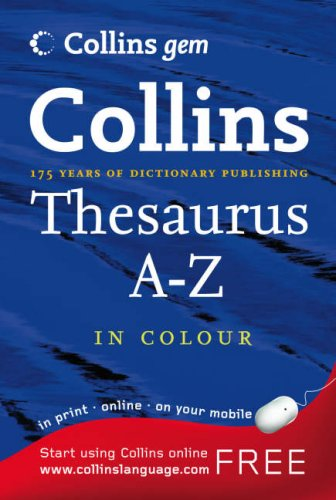 9780007208760: Thesaurus A-Z (Collins GEM)