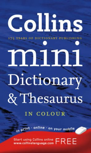 9780007208807: Collins Mini Dictionary and Thesaurus (Dictionary/Thesaurus)