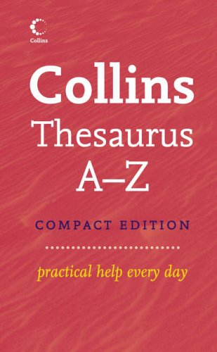 9780007208845: Collins Compact Thesaurus A-Z